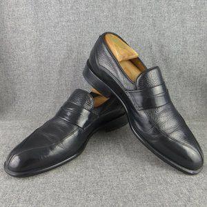AVVENTURA Black Leather Slip On Loafer Spain 9 M